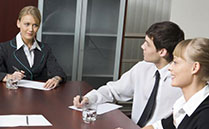 Lawyers in a meeting